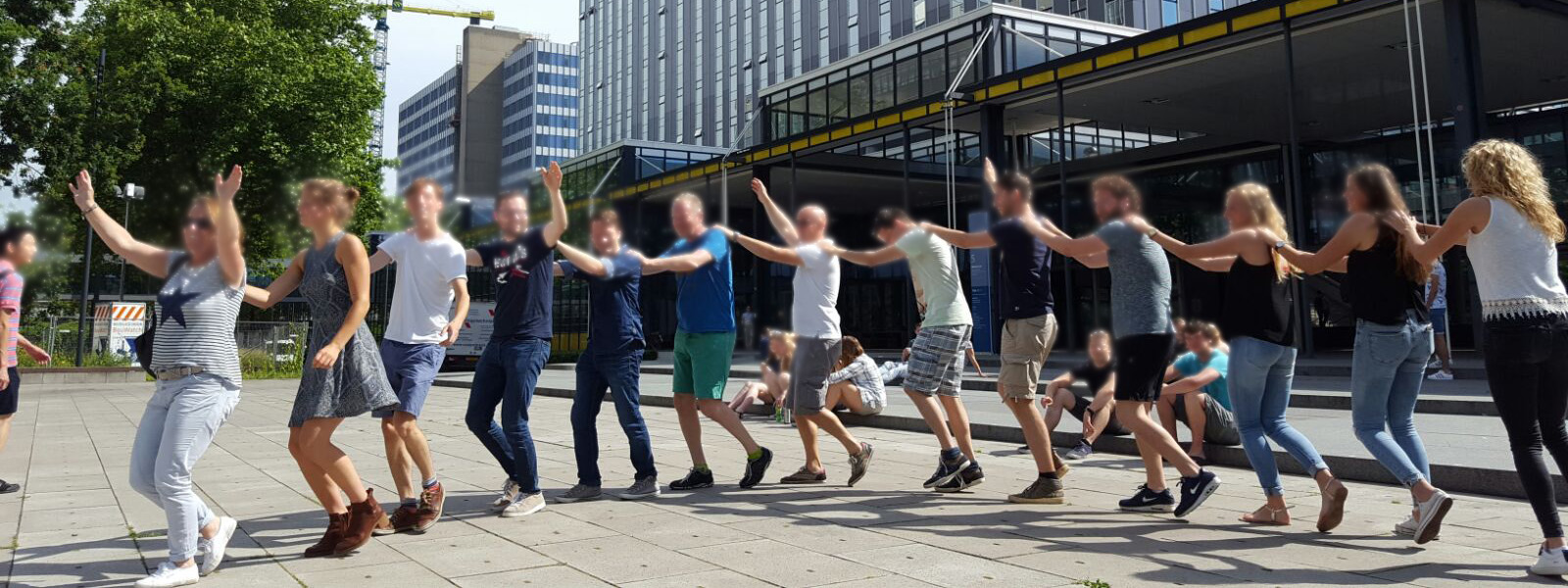 Teambuilding spellen in het centrum